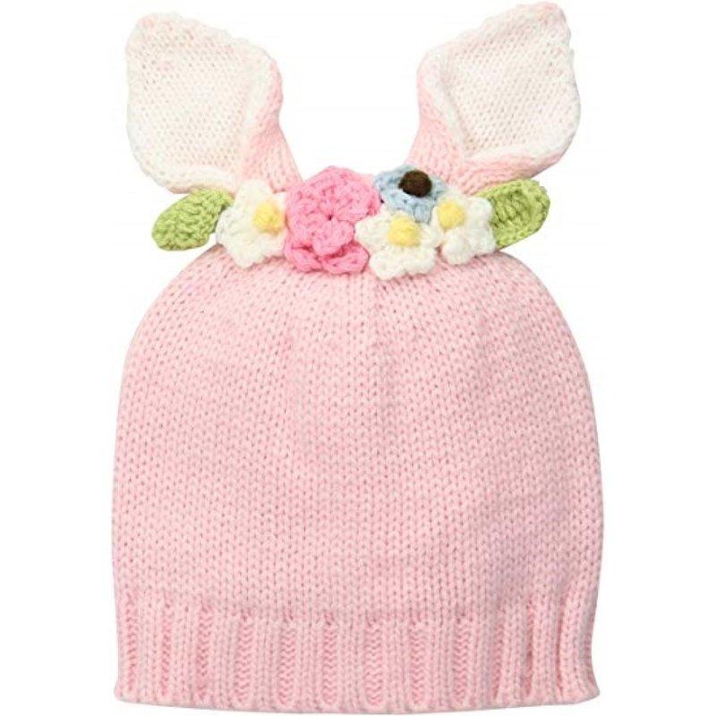 Mudpie Mudpie Pink Bunny Flower Crown Hat