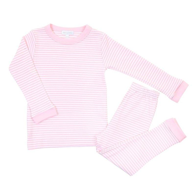 Magnolia Baby Magnolia Baby Pink Striped Essentials Long Pajamas