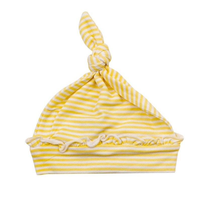 Angel Dear Angel Dear Basics Yellow Stripe Knotted Hat