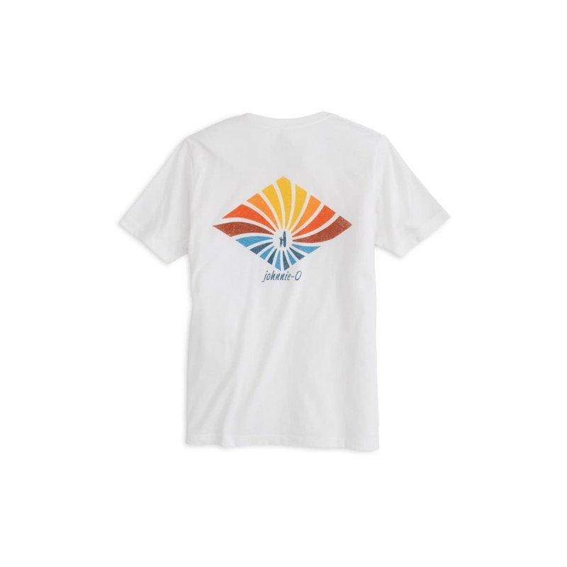 Johnnie-O Johnnie-O Spiral Boy's T-Shirt in White