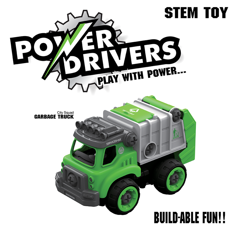 Flybar Flybar Power Drivers City Squad: Garbage Truck