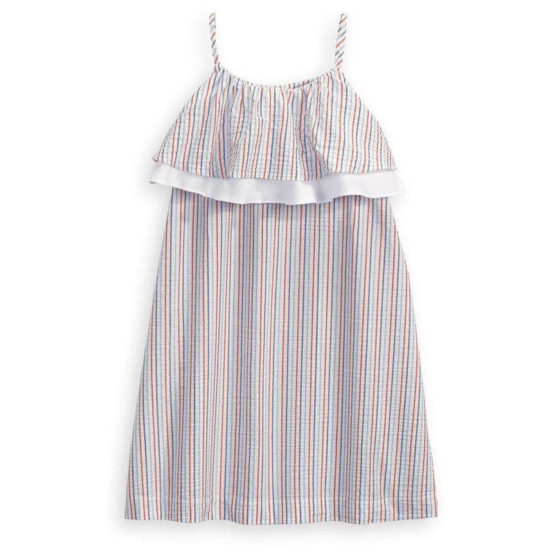 Bella Bliss Bella Bliss Americana Seersucker Stripe Spring Sheridan Dress