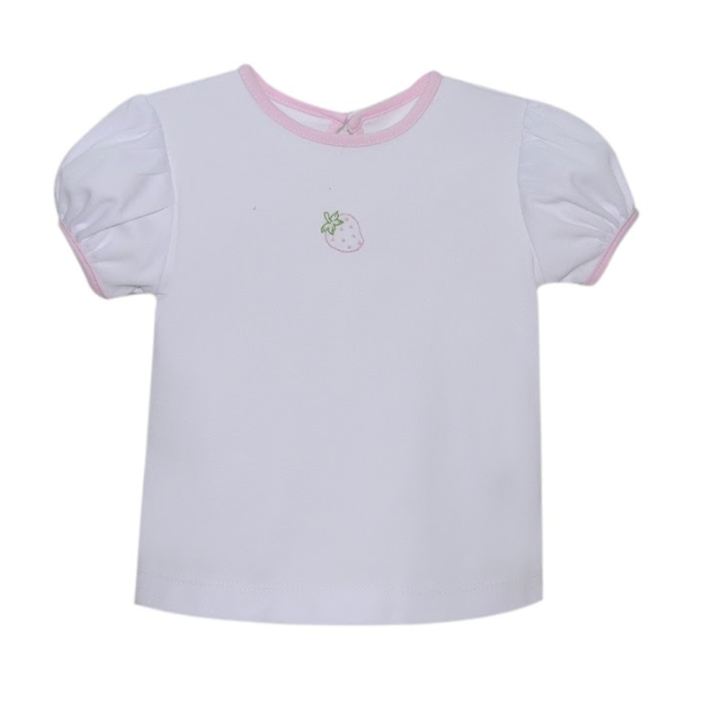 Lullaby Set Lullaby Set Sophie Strawberry Emb White Shirt