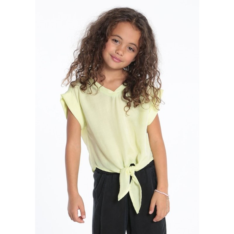 Bella Dahl Bella Dahl Girl Tie Front Tee in Citrus Punch