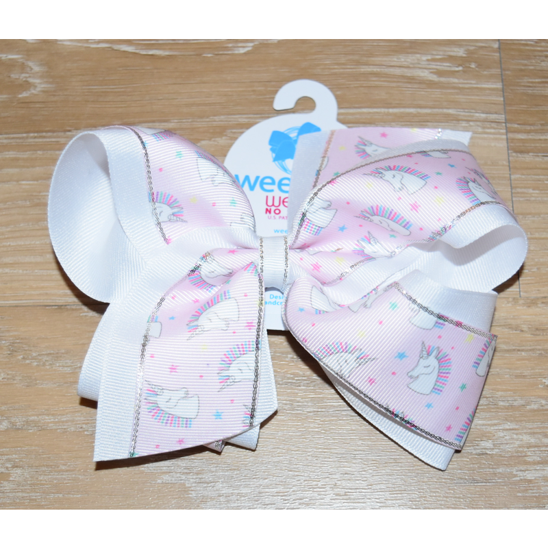 Wee Ones Bows Wee Ones King Unicorn Print Bow
