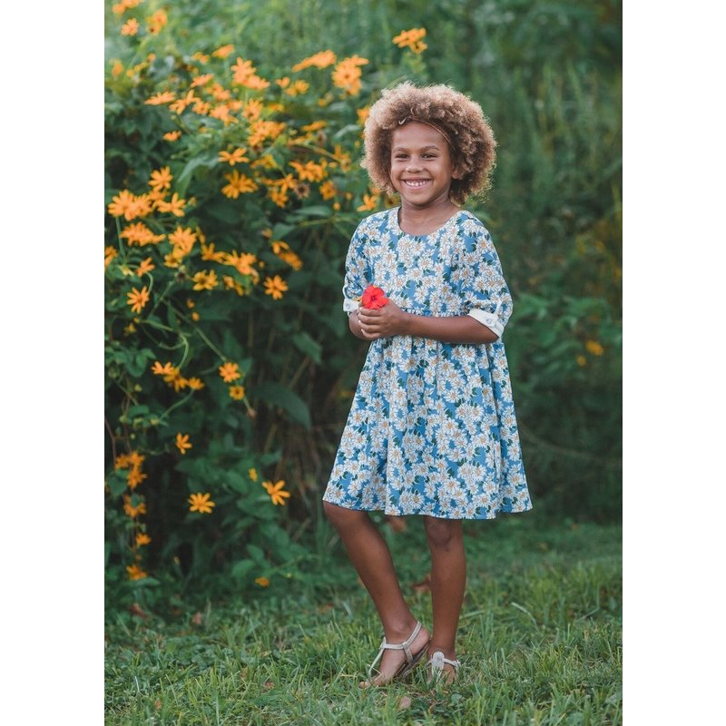 Mabel and Honey Mabel and Honey Blue Sunshinin' Daisies Dress
