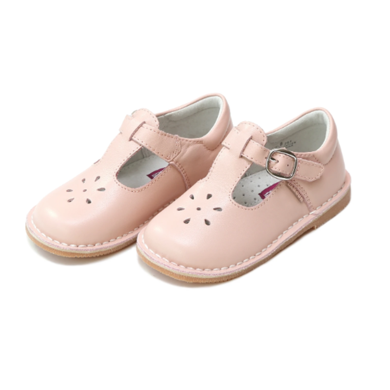 L'Amour L'Amour Joy Classic Pink Leather T-Strap Mary Jane