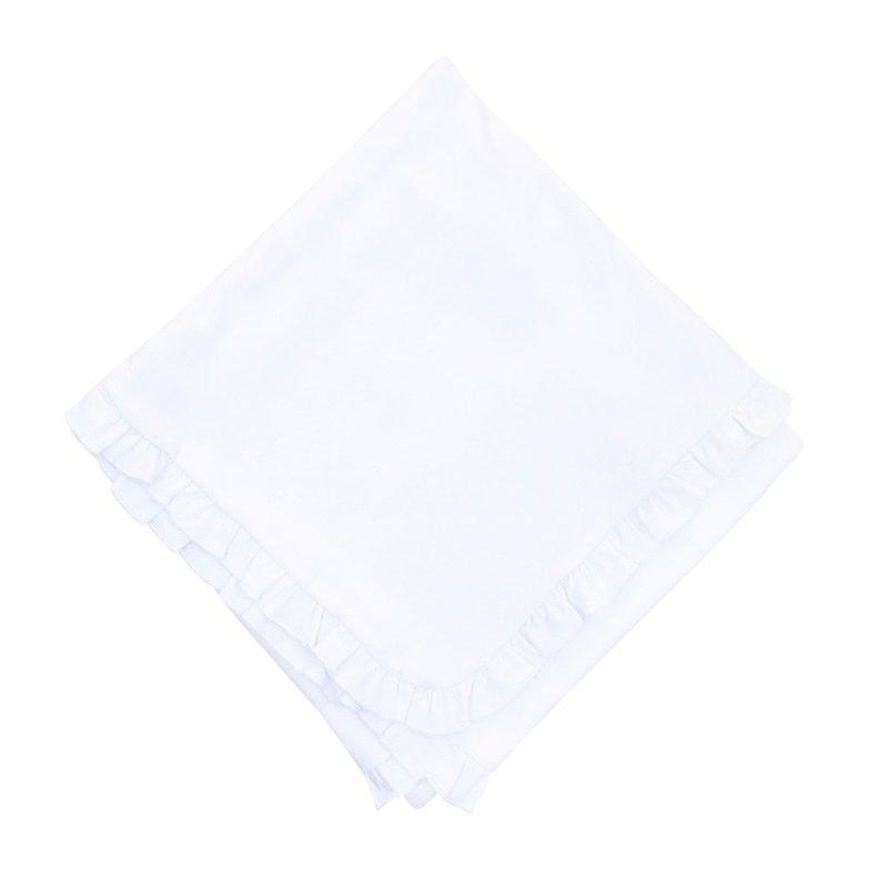 Magnolia Baby Magnolia Baby Essentials White Ruffle Blanket