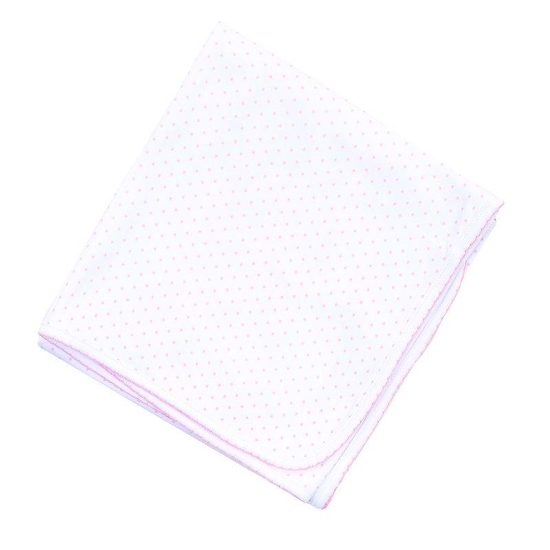 Magnolia Baby Magnolia Baby Pink Mini Dot Essentials Blanket