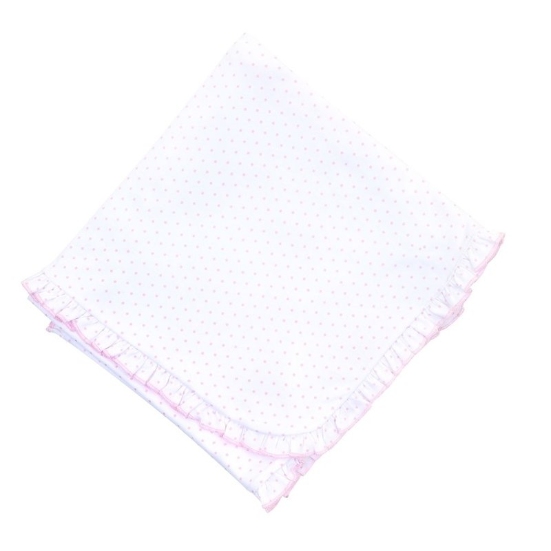 Magnolia Baby Magnolia Baby Pink Mini Dot Essentials Ruffle Blanket