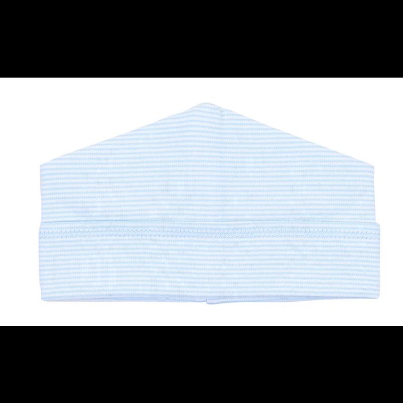 Magnolia Baby Magnolia Baby Light Blue Mini Stripe Essentials Hat