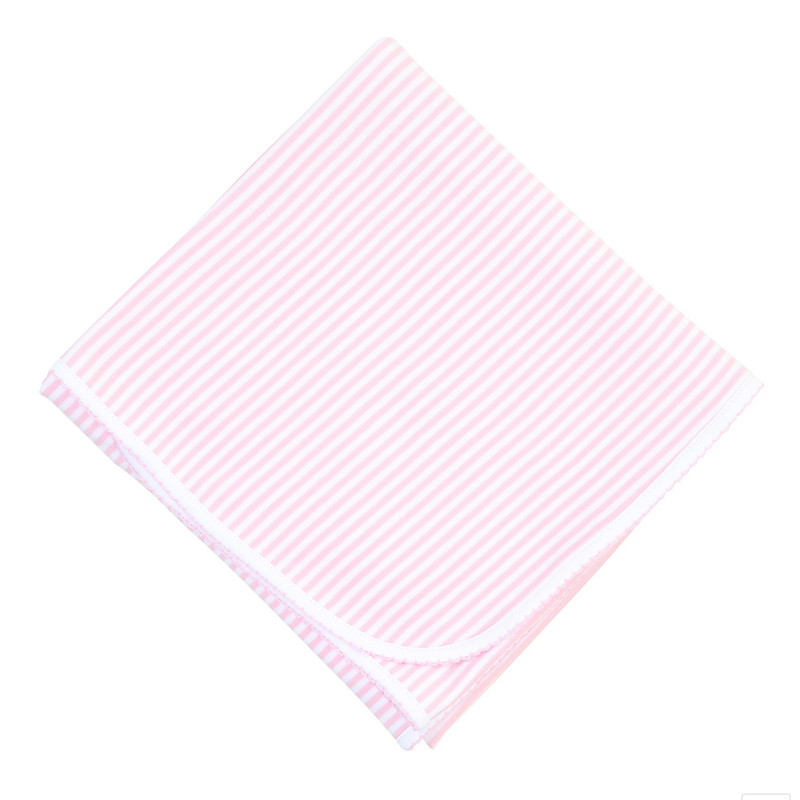 Magnolia Baby Magnolia Baby Essentials Pink Striped Blanket