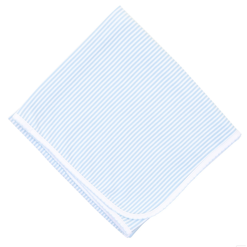 Magnolia Baby Magnolia Baby Essentials Light Blue Striped Blanket