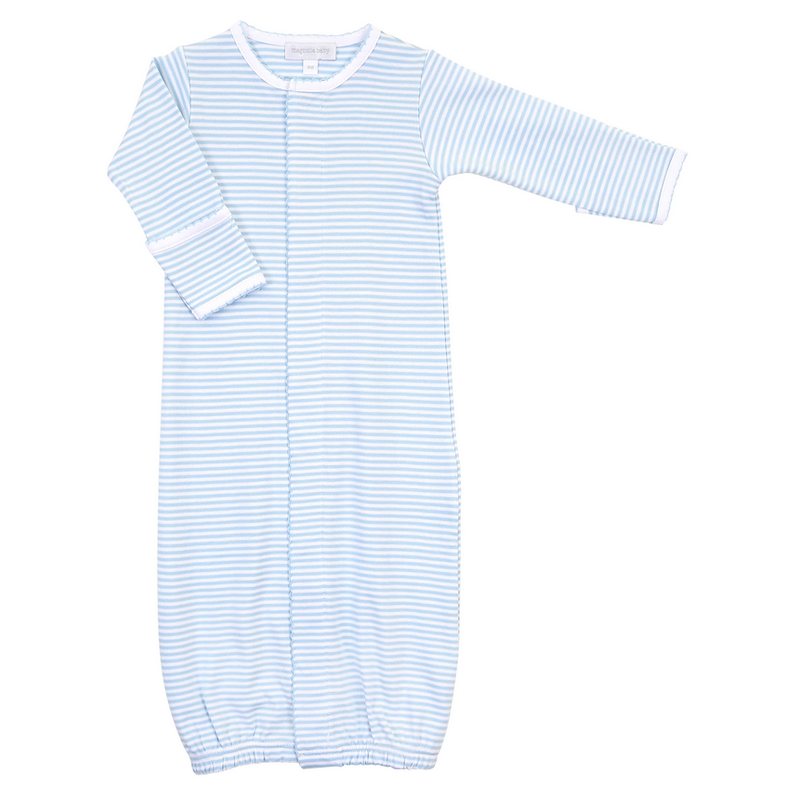 Magnolia Baby Magnolia Baby Essentials Light Blue Stripes Converter Gown