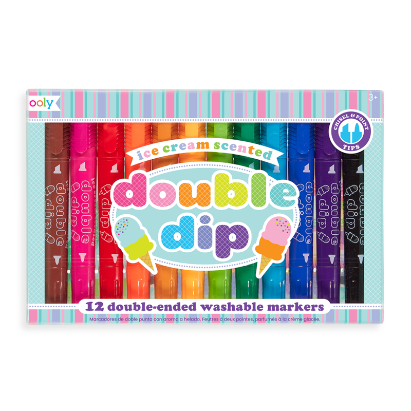 Ooly Ooly Double Dip Ice Cream Scented Markers - Set of 12
