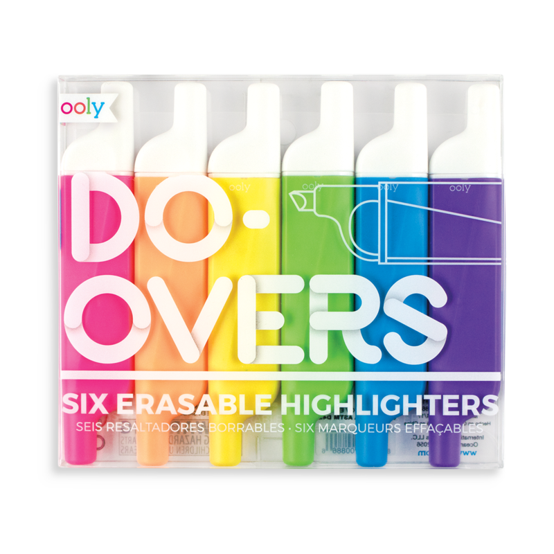 Ooly Ooly Do Over Erasable Highlighters - Set of 6