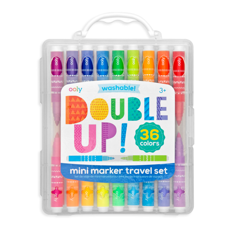 Ooly Ooly Double Up! 2-in-1 Mini Marker Travel Set - Set of 36