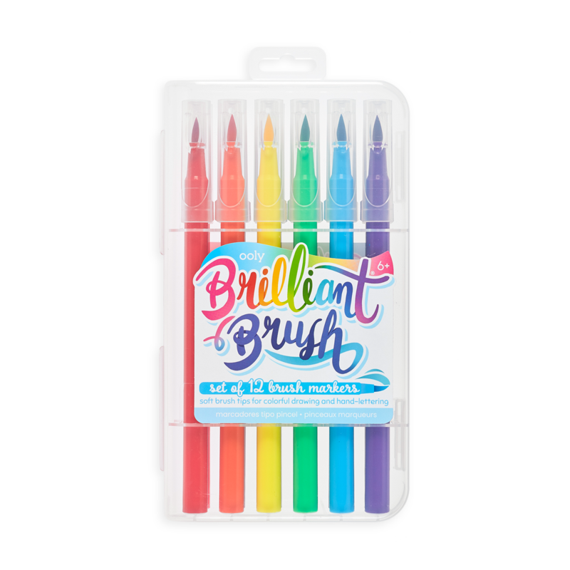 Ooly Ooly Brilliant Brush Markers - Set of 12