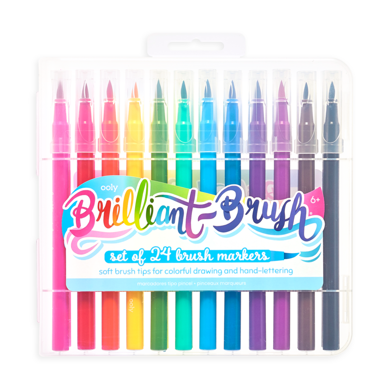 Ooly Ooly Brilliant Brush Markers - Set of 24