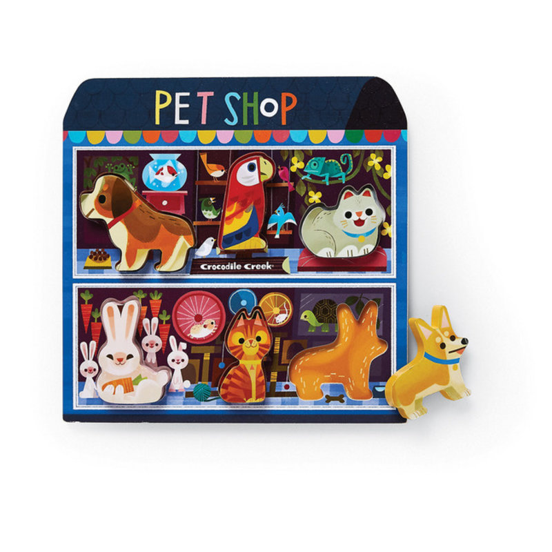 Crocodile Creek Let's Play Pet Shop 6 PC Wood Puzzle