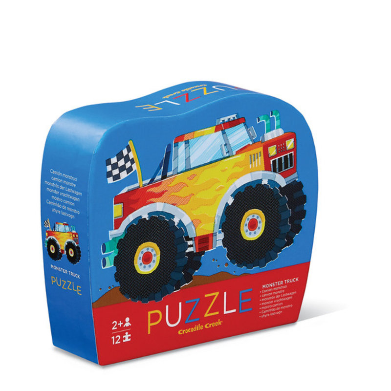 Crocodile Creek Monster Truck 12 PC Mini Puzzle
