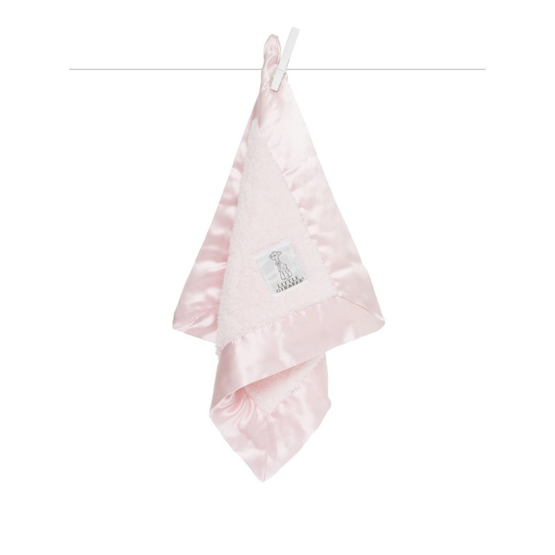 Little Giraffe Pink Chenille Blanky