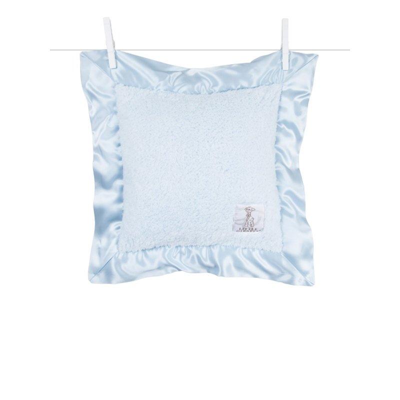 Little Giraffe Blue Chenille Baby Pillow