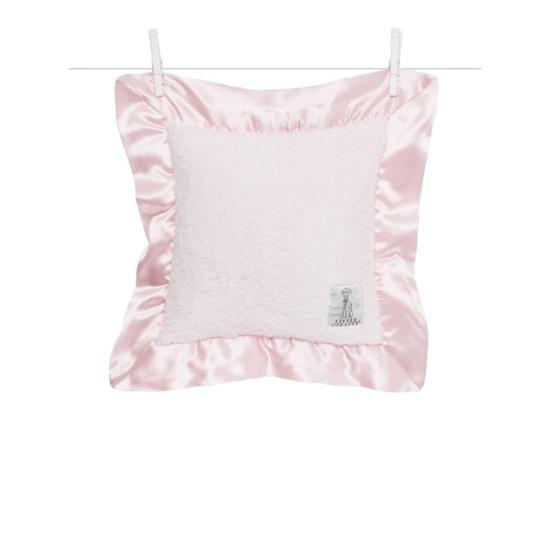 Little Giraffe Little Giraffe Pink Chenille Baby Pillow