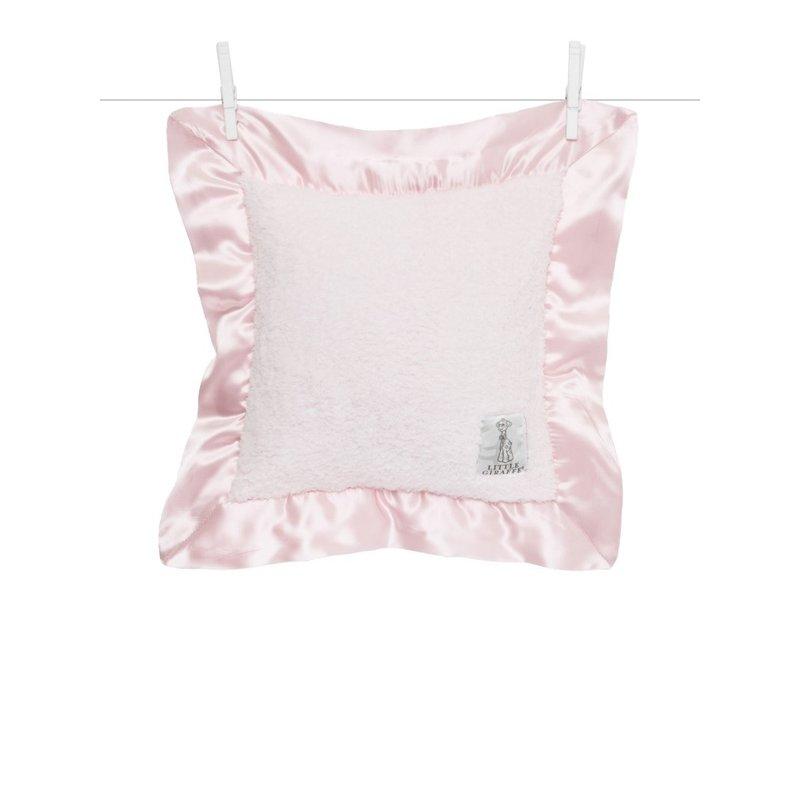 Little Giraffe Pink Chenille Baby Pillow