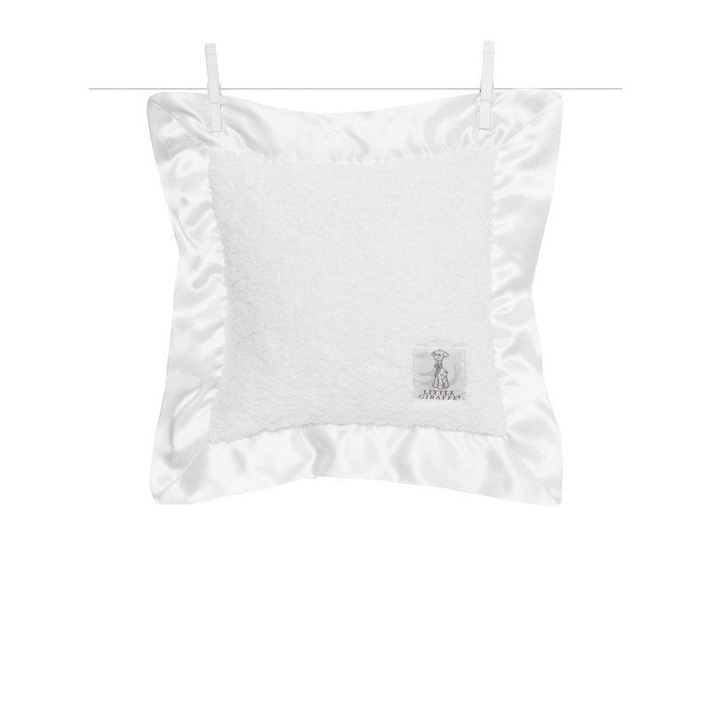 Little Giraffe White Chenille Baby Pillow