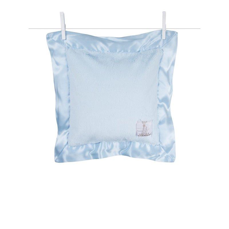 Little Giraffe Blue Luxe Baby Pillow