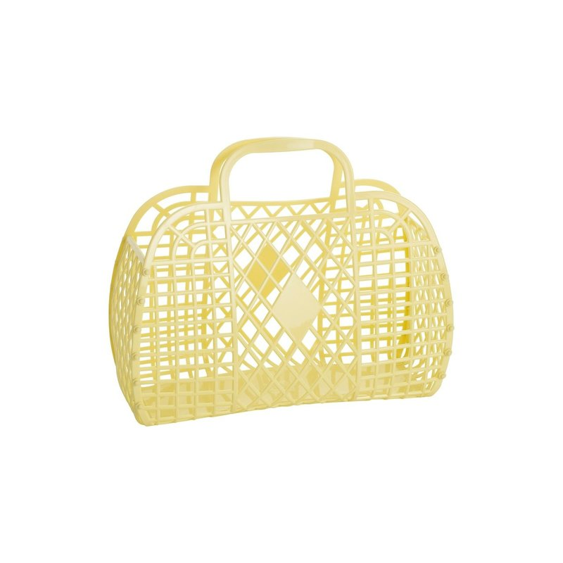 Sun Jellies Sun Jellies Small Yellow Retro Basket