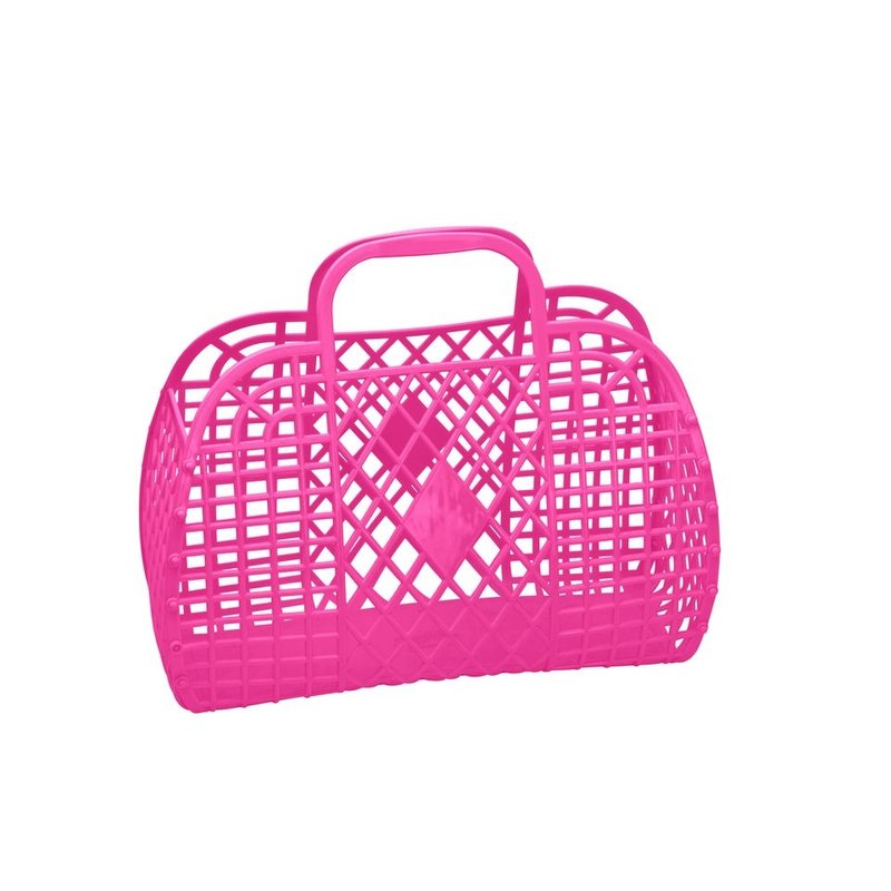 Sun Jellies Sun Jellies Large Hot Pink Retro Basket