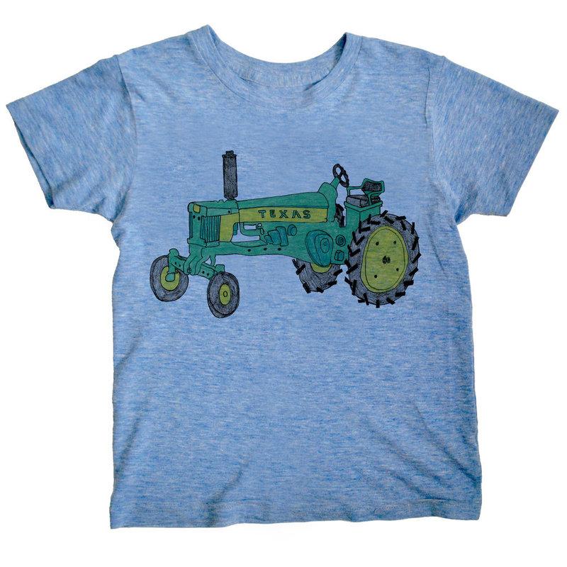 orangeheat orangeheat Tractor Tee Blue