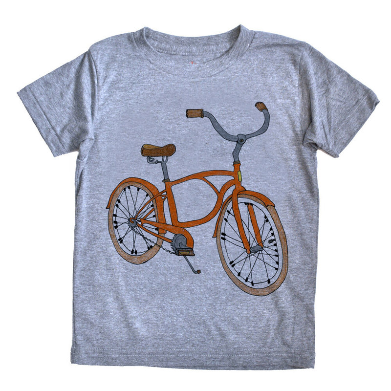 orangeheat orangeheat Bike Tee Grey