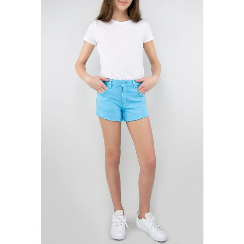 Tractr Tractr Brittany Fray Hem Shorts - Neon Blue