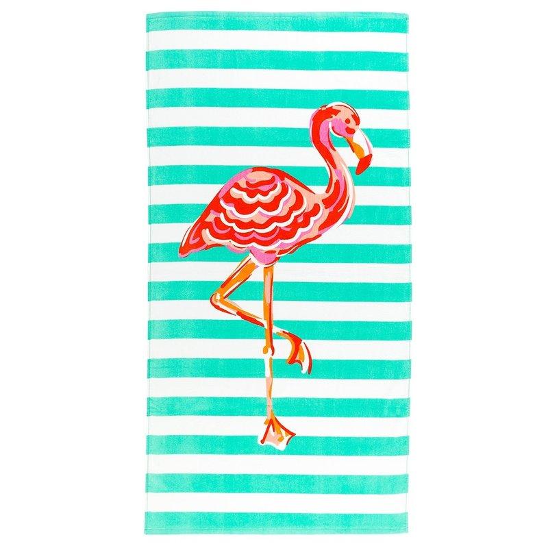 Viv & Lou Viv & Lou Flamingo Stripe Towel