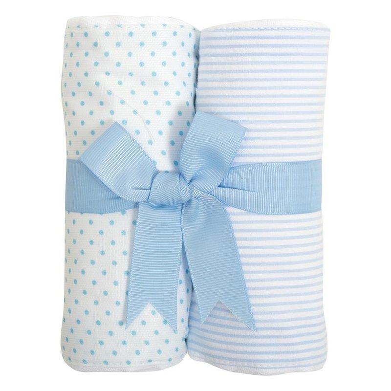 3 Marthas 3 Marthas Blue Bunny Set of Two Burp Cloths