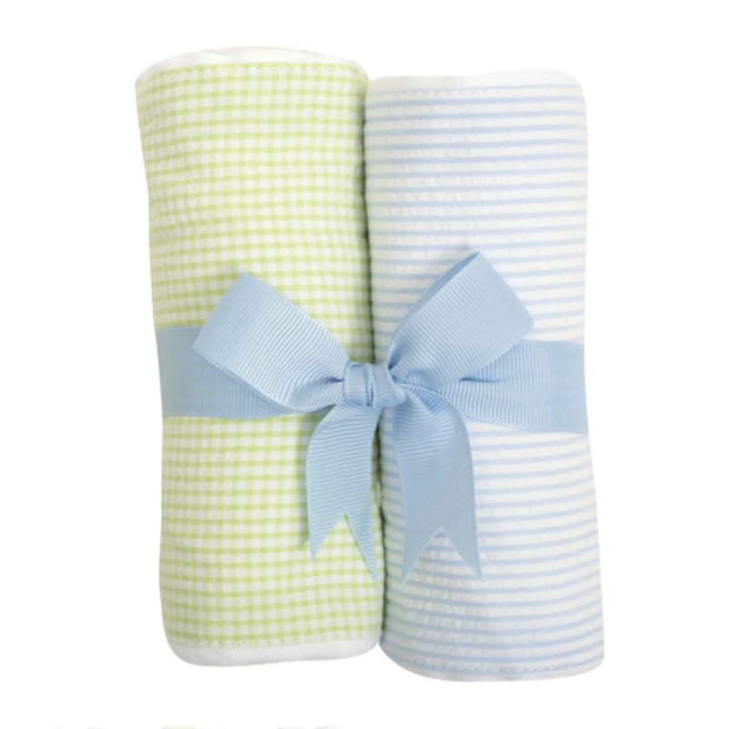 3 Marthas 3 Marthas Blue Lamb Set of Two Burp Cloths