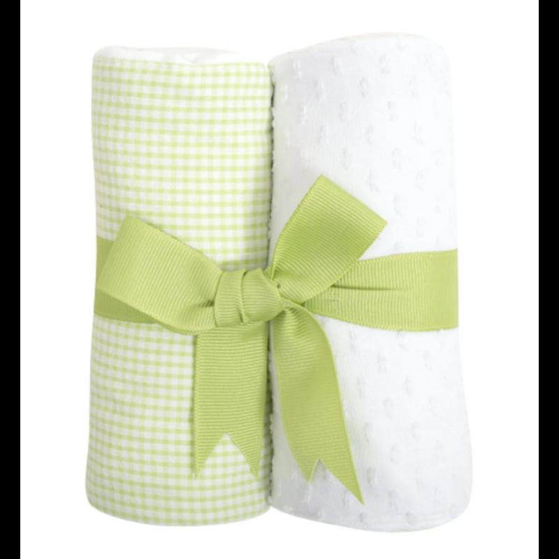 3 Marthas 3 Marthas White Lamb Set of Two Burp Cloths