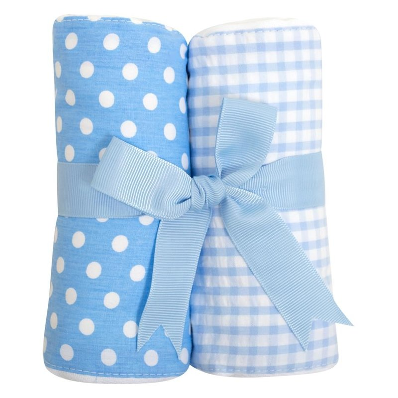 3 Marthas 3 Marthas Blue Golf Set of Two Burp Cloths