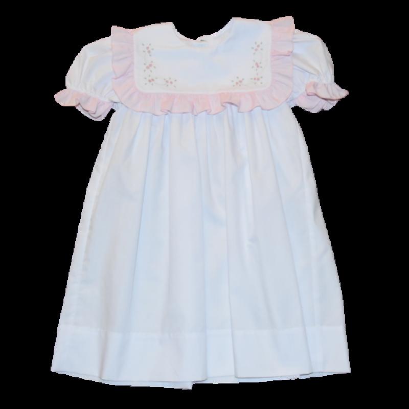 Auraluz Auraluz White/Pink Tinybud Dress