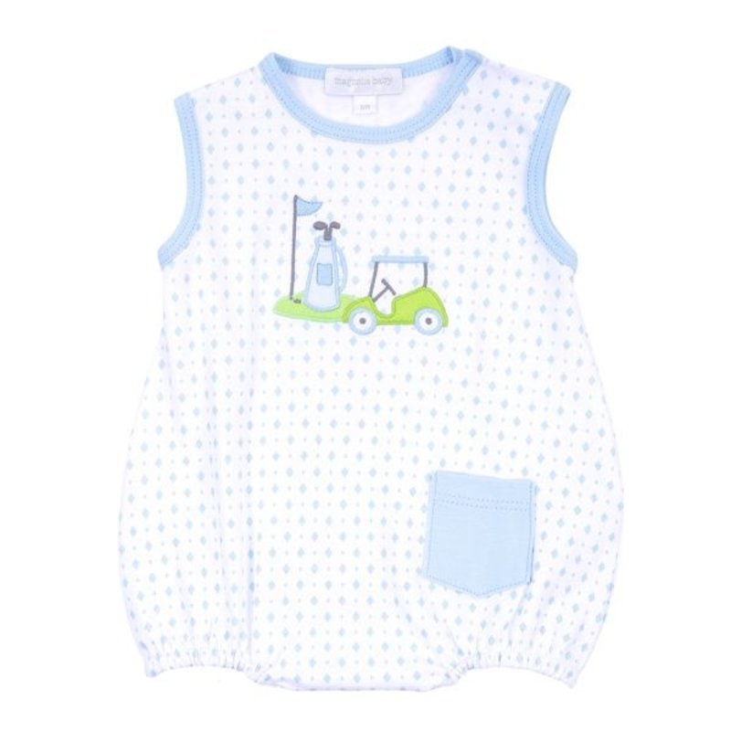 Magnolia Baby Magnolia Baby Putting Around Applique Sleeveless Bubble