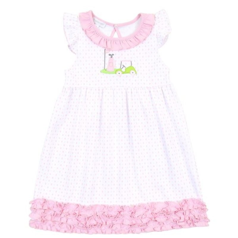 Magnolia Baby Magnolia Baby Putting Around Applique Ruffle Toddler Dress