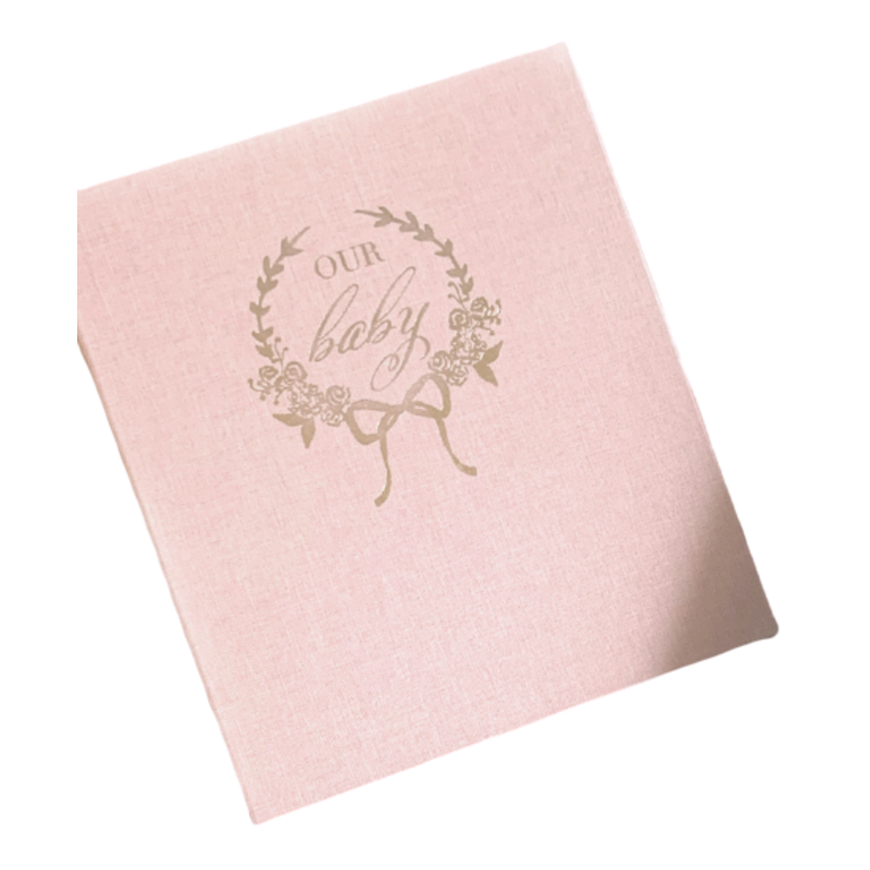 "Over The Moon ""Our Baby"" Baby Book Pink"
