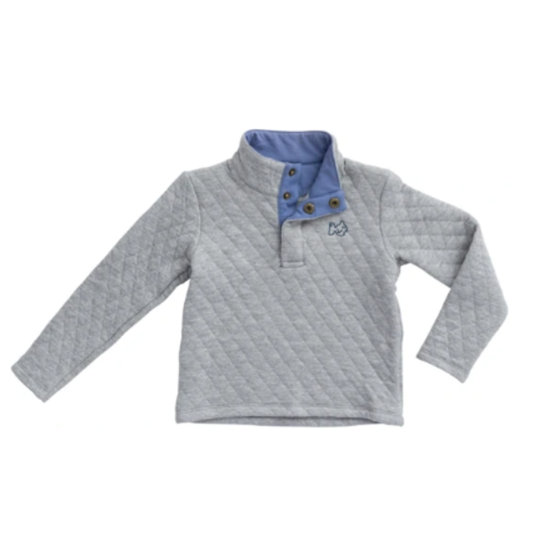 PRODOH Prodoh Quilted Quarter Snap Pullover-Igneous Gray
