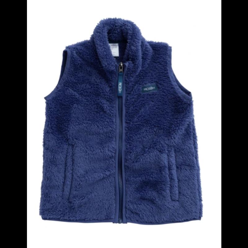 PRODOH Prodoh Solid Sherpa Vest- Sea Urchin Blue