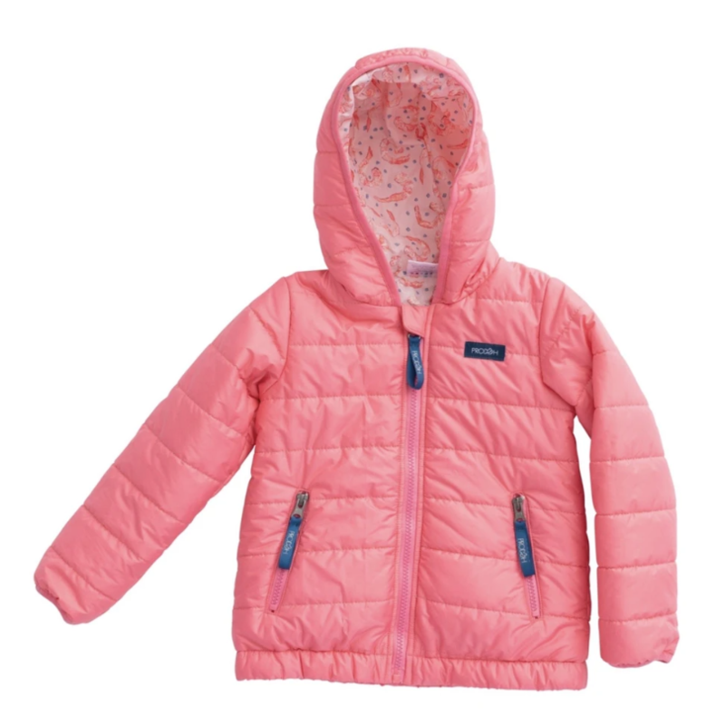 PRODOH Prodoh Girl's Hooded Puffer Jacket Shrimp Lining- Pink Lemonade