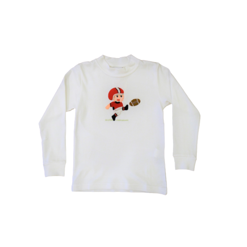 Squiggles Squiggles Football Player Kicker Crew Neck Shirt Red