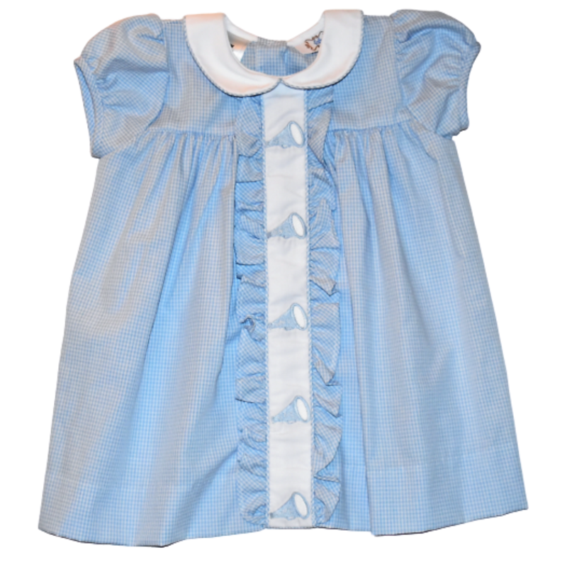Lulu Bebe NC Tarheels Emb Dress
